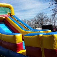 18 foot tall giant slide