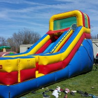 18 foot tall giant slide